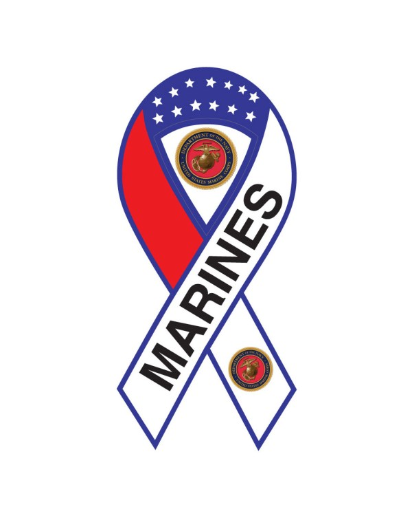 "Marines Magnet or Sticker for Indoor or Outdoor Use 8"" x 4"""