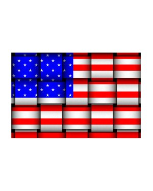 "USA American Flag Magnet or Sticker for Indoor or Outdoor Use 6"" x 4"""