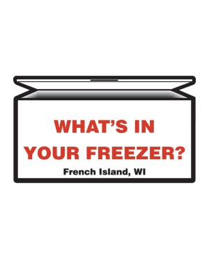 "French Island Whats in your Freezer Magnet or Sticker for Indoor or Outdoor Use 7"" x 4"""