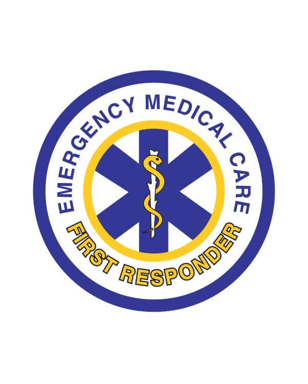 "EMS First Responder Magnet or Sticker for Indoor or Outdoor Use 5"" x 5"""