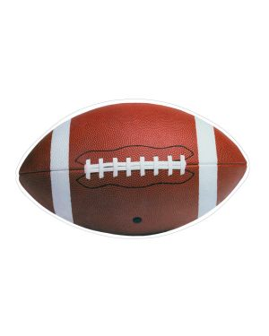 "Football Magnet or Sticker for Indoor or Outdoor Use 7"" x 4"""