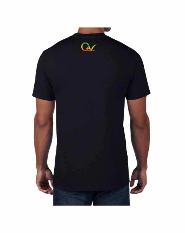 Good Vibes Rastafarian Lion Black T-shirt