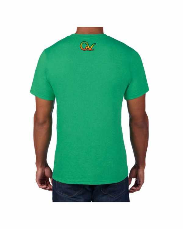 Good Vibes Rastafarian Lion Green T-shirt