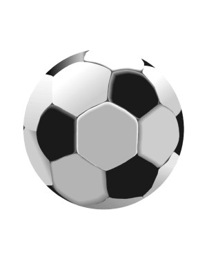 "Soccer Magnet or Sticker for Indoor or Outdoor Use 5"" x 5"""