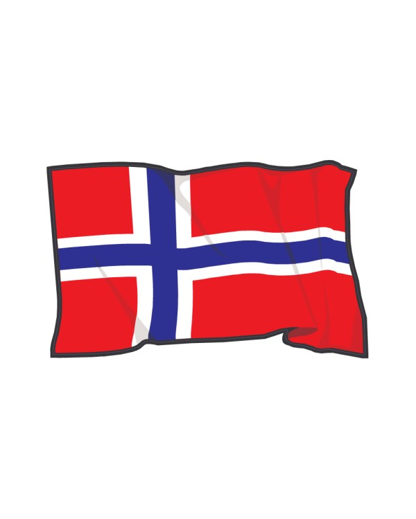 "Norway Flag Magnet or Sticker for Indoor or Outdoor Use 7"" x 4"""