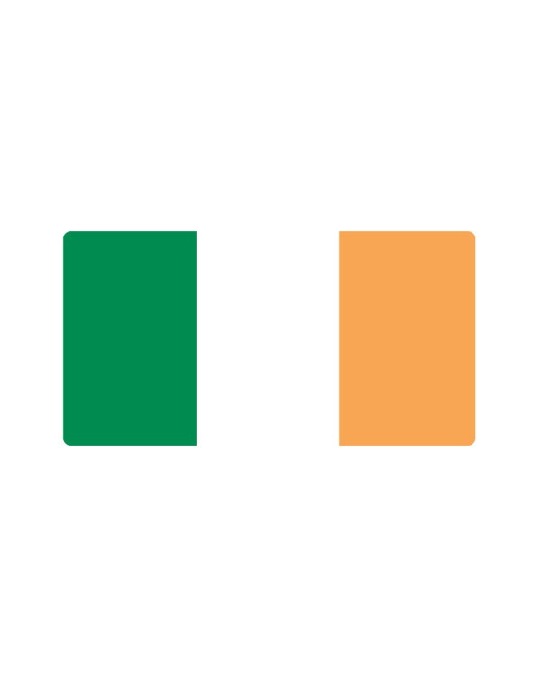 "Irish Flag Magnet or Sticker for Indoor or Outdoor Use 7"" x 4"""