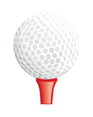 "Golf Tee Magnet or Sticker for Indoor or Outdoor Use 6.5"" x 5"""