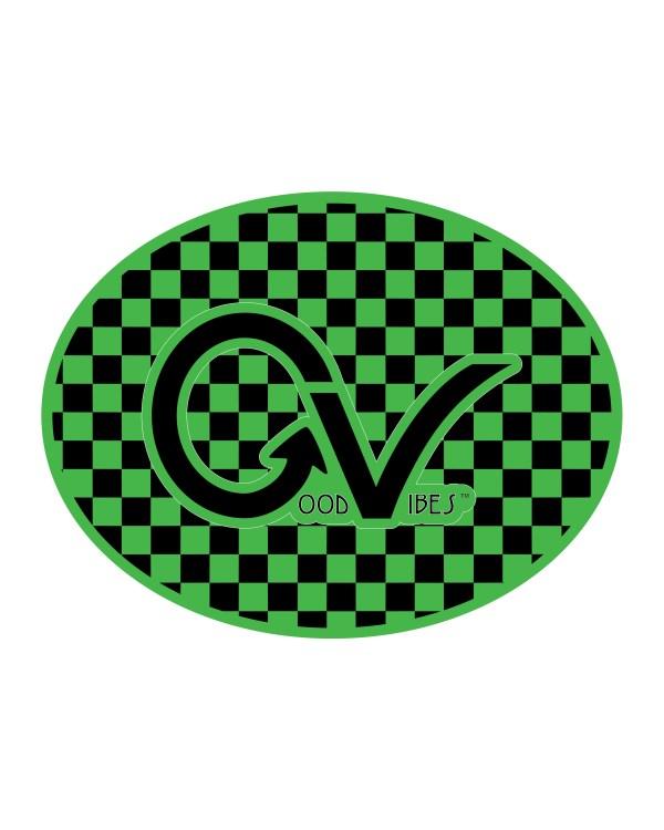 Checker Green Black Circle