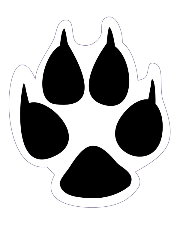 """Dog Track Magnet or Sticker for Indoor or Outdoor Use 1.8"""" x 1.5"""""""