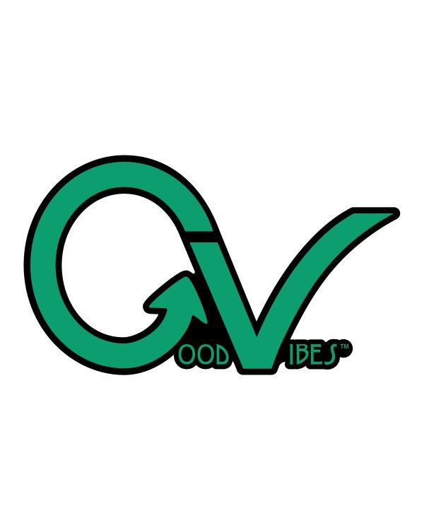 """Good Vibes Green Lighter Sticker 4"""" x 2"""""""