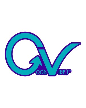 """Good Vibes Purple GVLighter Sticker for Indoor or Outdoor Use 3.45"""" x 2"""""""