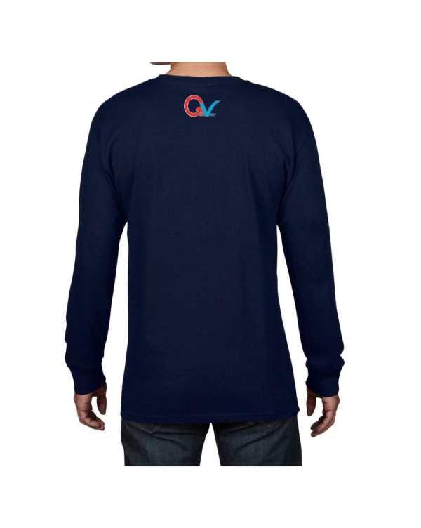 Good Vibes Multi Color Checker GV Logo Navy Long Sleeve T-shirt