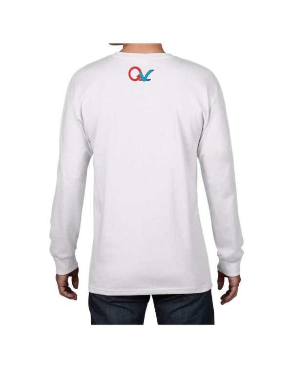 Good Vibes Multi Color Checker GV Logo White Long Sleeve T-shirt