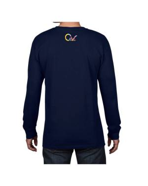 Good Vibes Tie Dye Navy Long Sleeve T-shirt