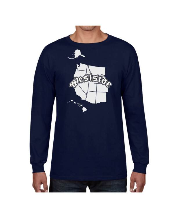 Good Vibes Westside Map Navy Long Sleeve T-shirt