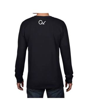 Good Vibes White Gorilla Navy Long Sleeve T-shirt