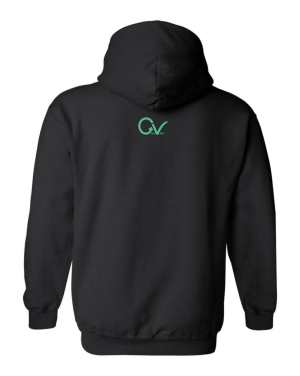 Good Vibes Multi Colored GV Layout Black Hoodie
