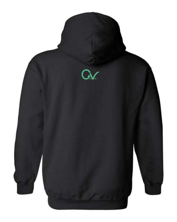 Good Vibes Multi Colored GV Layout Black Hoodie