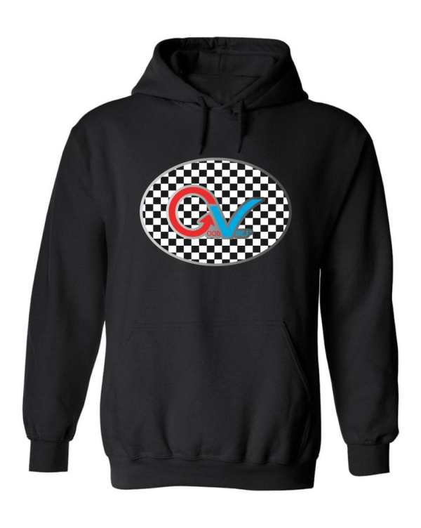 Good Vibes™ Unisex Multi-Color Checker Hoodie. This is a Heavyweight Hoodie 50% cotton and 50% Polyester with Front pouch pocket Black Hoodie