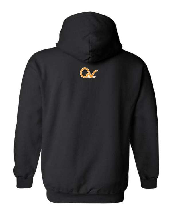 Good Vibes Orange Checker Logo Black Hoodie