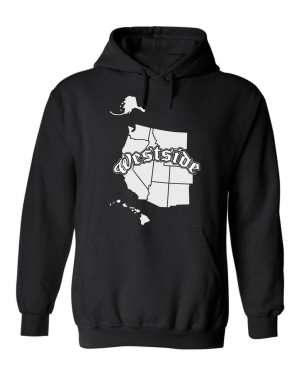 Good Vibes™ Westside Map Unisex Hoodie. This is a Heavyweight Hoodie 50% cotton and 50% Polyester with Front pouch pocket