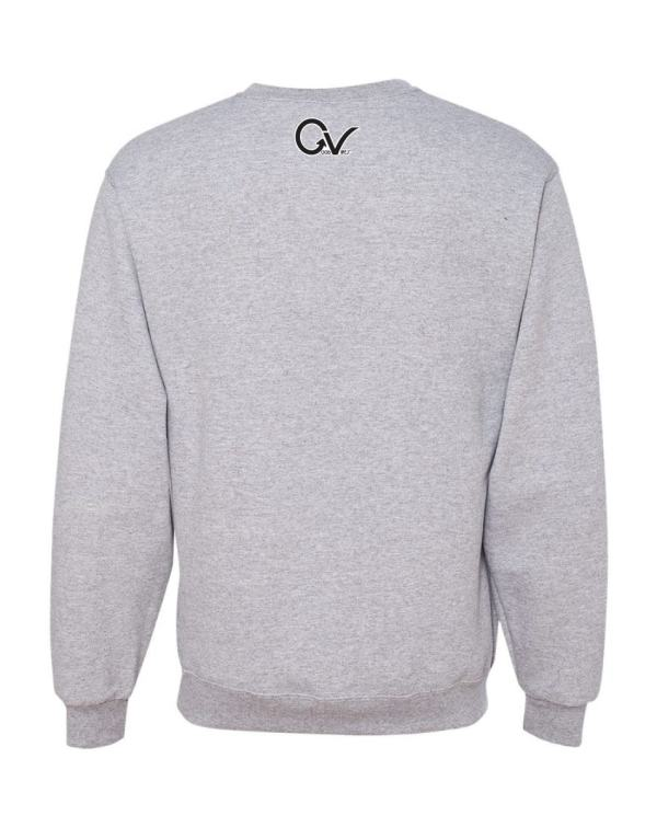 Good Vibes Earn Your Stripes Gray Sweatshirt