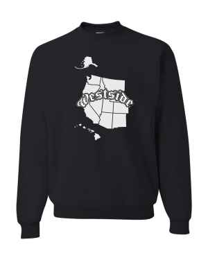 Good Vibes Westside Map Black Sweatshirt