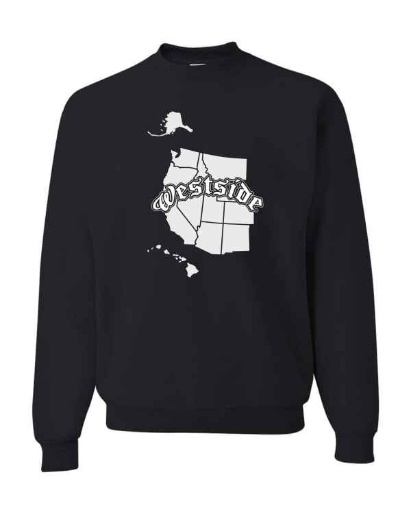 Good Vibes Westside Map Black Sweatshirt