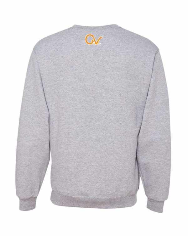 Good Vibes Orange Checker Logo Gray Sweatshirt