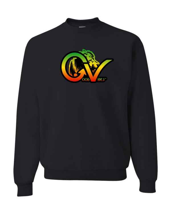 Good Vibes Rastafarian Lion GV Black Sweatshirt