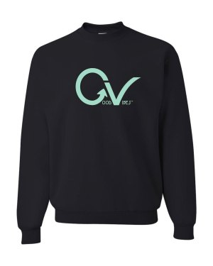 Good Vibes Teal Good Vibes Black Sweatshirt