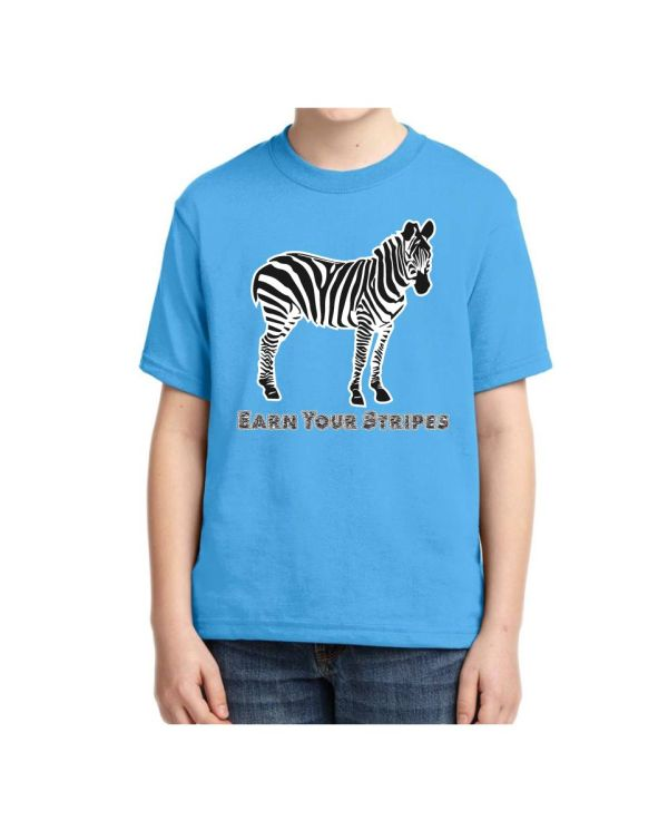 Good Vibes Earn Your Stripes Kids Blue T-shirt