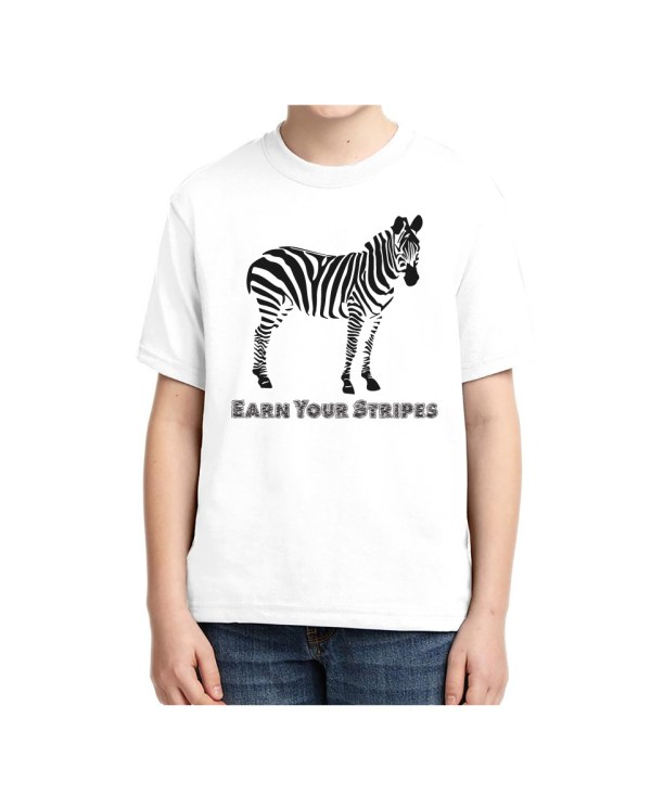 Good Vibes Earn Your Stripes Kids White T-shirt