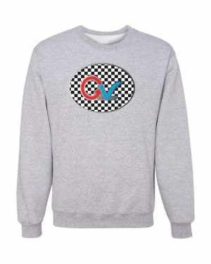 Good Vibes Multi Color Checker GV Logo Gray Sweatshirt