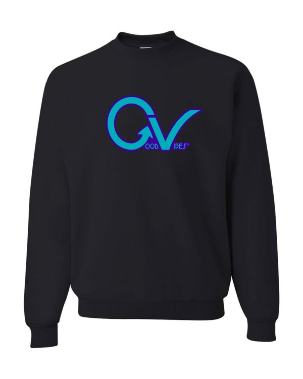 Good Vibes Purple GV Black Sweatshirt