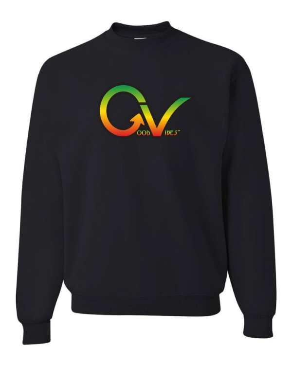 Good Vibes Rastafarian GV Black Sweatshirt
