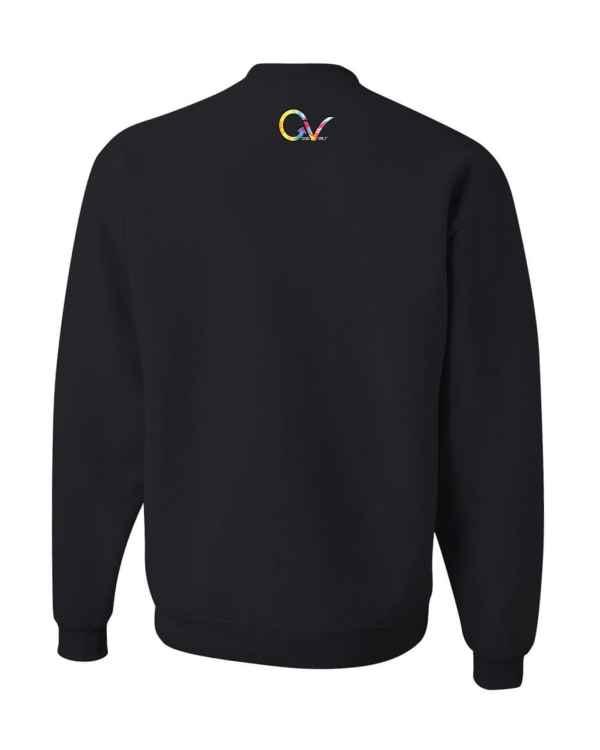 Good Vibes Tie Dye Black Sweatshirt