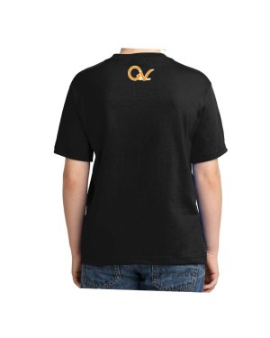 Kids Orange Good Vibes Logo T-shirt 5.6 oz., 50/50 Heavyweight Blend Black T-Shirt