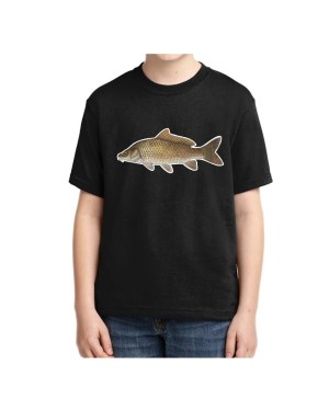 Kids Carp Fish T-shirt 5.6 oz., 50/50 Heavyweight Blend Black T-Shirt