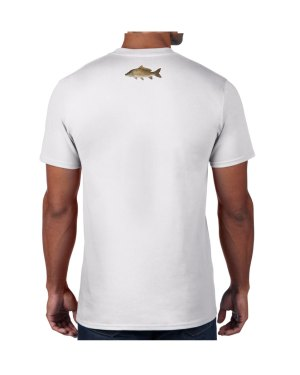 Carp White T-shirt 5.6 oz., 50/50 Heavyweight Blend