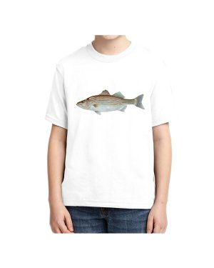 Kids Striped Bass T-shirt 5.6 oz., 50/50 Heavyweight Blend