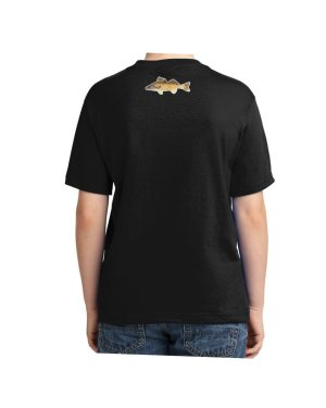 Walleye Black Kids Tshirt