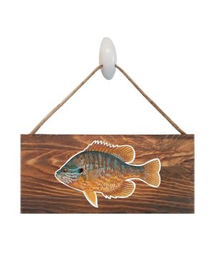 "Pumpkinseed Dark Wood Sign. Size: 12"" W x 5.5"" H - With Rope 11"" H -.30 Thick"