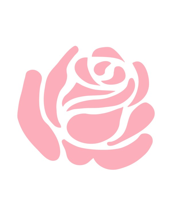 Pink Rose Vinyl Decal