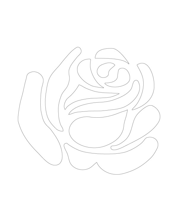 White Rose Vinyl Decal