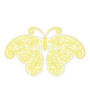 Yellow Butterfly Magnet