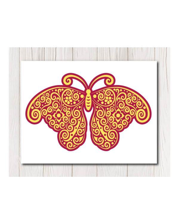 Canvas - Purple Yellow Butterfly in 4 Sizes