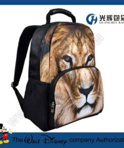 3D lion print animal college rucksacks