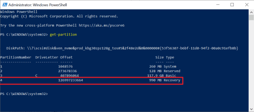 active recovery partition
