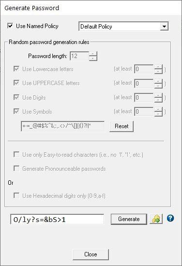 Password Safe Genera password